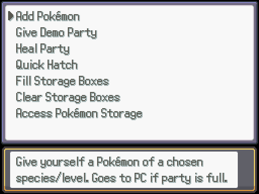 Pokémon Options
